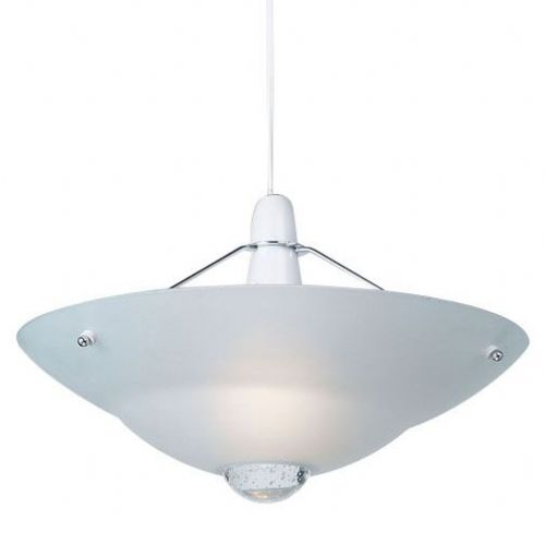 Frosted glass & chrome effect plate Pendant Light NE-81 by Endon